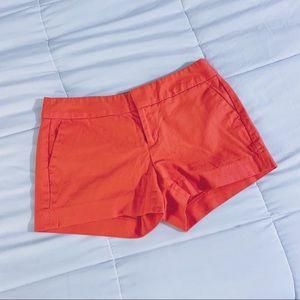 Salmon tailored shorts